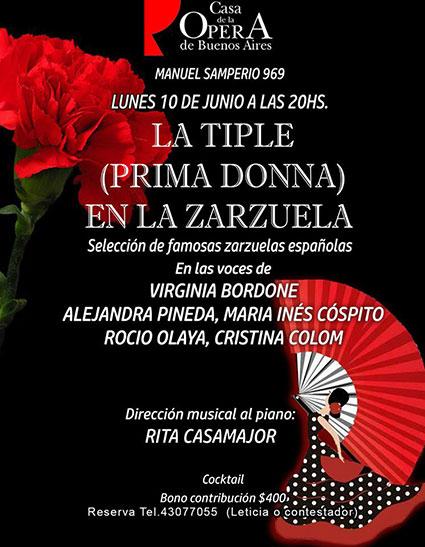 Zarzuela en Casa de la Opera de Buenos Aires
